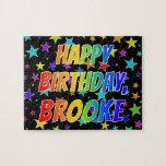 "[ Thumbnail: ""Brooke"" First Name, Fun ""Happy Birthday"" Jigsaw Puzzle ]"
