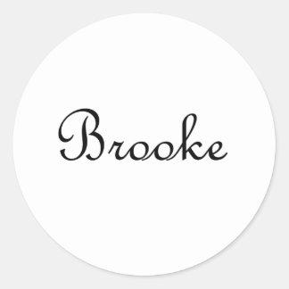 Brooke Pegatina Redonda