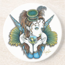 brooke, keoni, fish, pet, fairy, couture, top, hat, crystal, ball, faery, faerie, fae, fairies, faeries, fantasy, art, myka, jelina, mika, big, eyes, low, brow, Descanso para copos com design gráfico personalizado