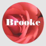 Brooke Round Stickers