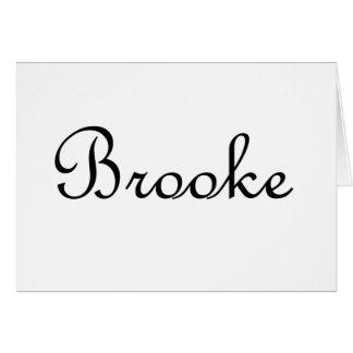 Brooke Tarjeta De Felicitación