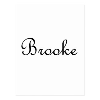 Brooke Tarjeta Postal