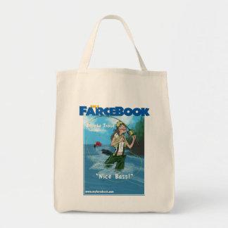 Brooke Trout- myFarcebook.com Fishing Guide Grocery Tote Bag