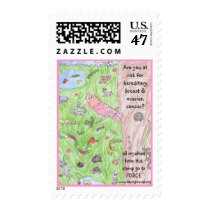 Brooke's world of animals postage stamp