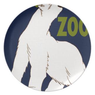 Brookfield Zoo Melamine Plate