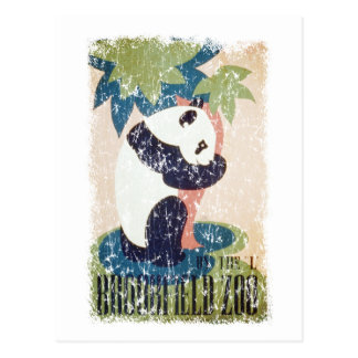 Brookfield Zoo-Panda distressed Postcard