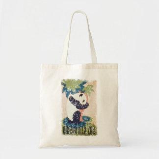 Brookfield Zoo-Panda distressed Tote Bag