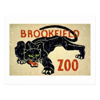 Brookfield Zoo-Panther-distressed Postcard