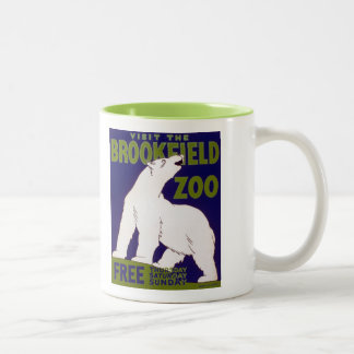Brookfield Zoo Polar Bear Vintage WPA Poster Mugs