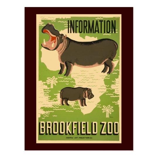 Brookfield Zoo Postcard