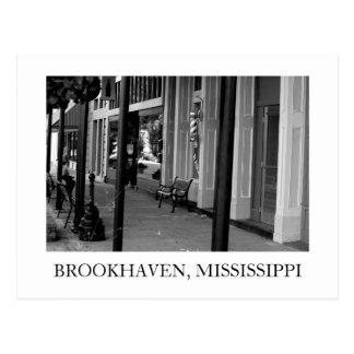 Brookhaven Mississippi Barber Shop Postcard