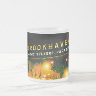 Brookhaven, Mississippi frosted coffee cup motto 10 Oz Frosted Glass Coffee Mug