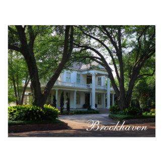 Brookhaven, Mississippi - Historic antebellum home Postcard