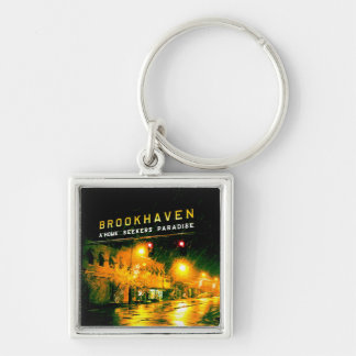 Brookhaven, Mississippi Silver-Colored Square Keychain
