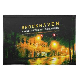 Brookhaven, MS sign motto placemat Cloth Place Mat