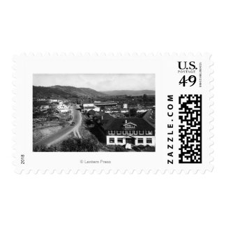 Brookings, Oregon Town View and Ocean Photograph Postage