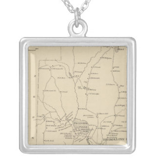 Brookline, Hillsborough Co Silver Plated Necklace