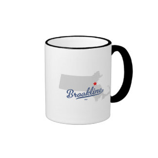 Brookline Massachusetts MA Shirt Ringer Mug