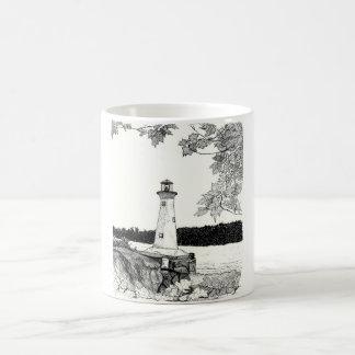 Brookline NH - Lighthouse by T. Wiepert Classic White Coffee Mug
