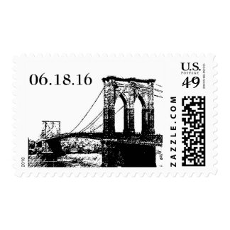 Brookly Bridge Stamp - Save the Date