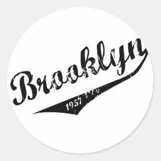 Brooklyn 1957 classic round sticker