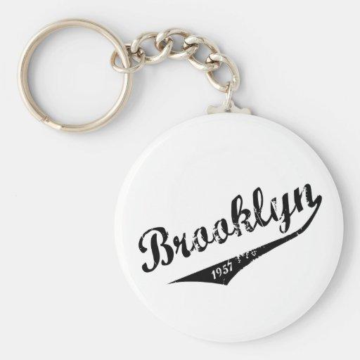 Brooklyn 1957 llavero redondo tipo pin