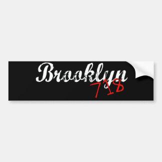 Brooklyn 718 bumper sticker