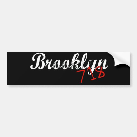 Brooklyn 718 bumper sticker