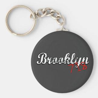 Brooklyn 718 llavero redondo tipo pin