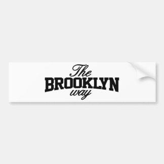 Brooklyn adaptable pegatina para auto