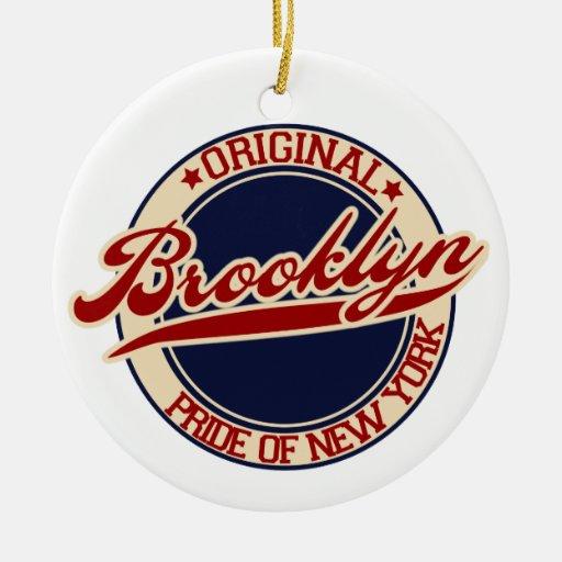 Brooklyn Adorno Navideño Redondo De Cerámica