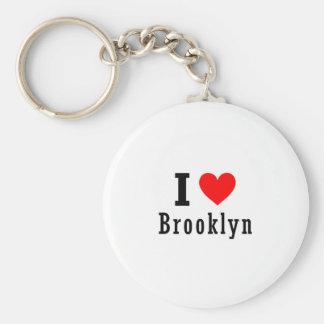 Brooklyn, Alabama City Design Basic Round Button Keychain