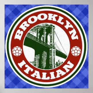 Brooklyn American Italian Poster Print