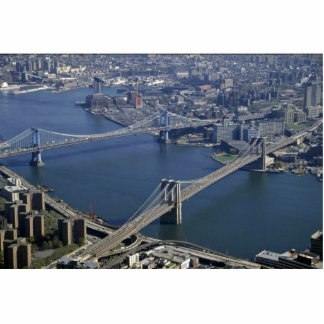 Brooklyn and Manhattan from the air, New York, USA Cut Out