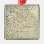 Brooklyn and Vicinity Square Metal Christmas Ornament