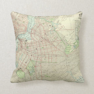 Brooklyn and Vicinity Throw Pillow