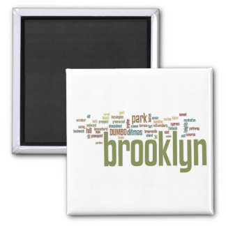 Brooklyn Baby Pride!! 2 Inch Square Magnet