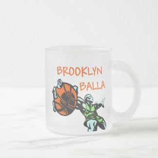 Brooklyn Balla Basketball Gear 10 Oz Frosted Glass Coffee Mug