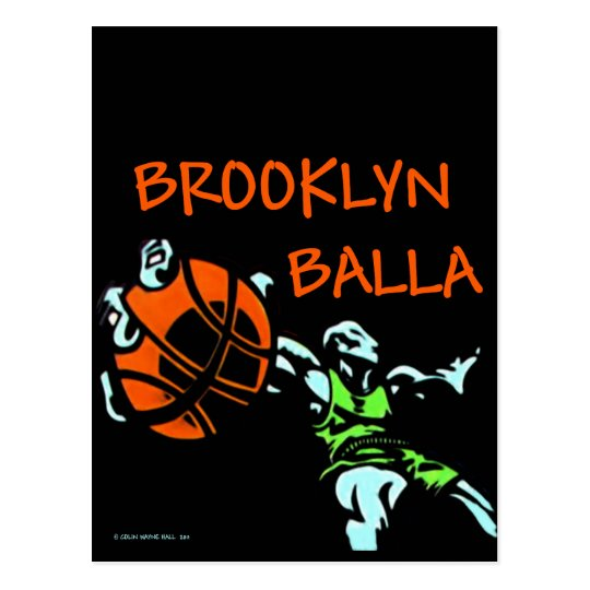 Brooklyn Balla Basketball Gear Postcard