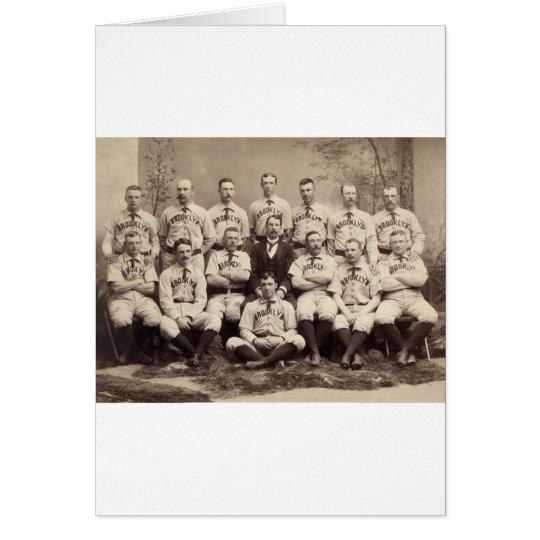 Brooklyn Baseball Team, 1889 Card
