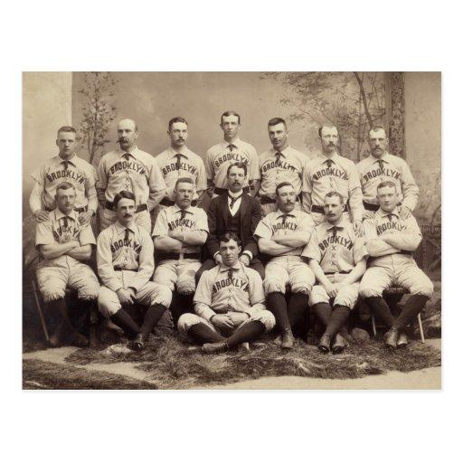 Brooklyn Baseball Team, 1889 Post Cards