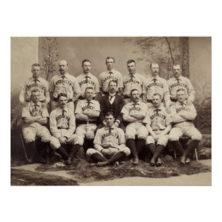 Brooklyn Baseball Team, 1889 Poster
