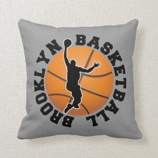 Brooklyn Basketball Throw Pillow