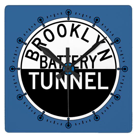Brooklyn Battery Tunnel Blue Wall Clock