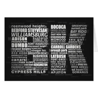Brooklyn BK NYC Typographic Note Greeting Card