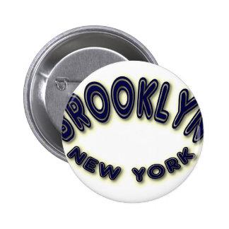 Brooklyn Blue - looks best on dark colors Pinback Button