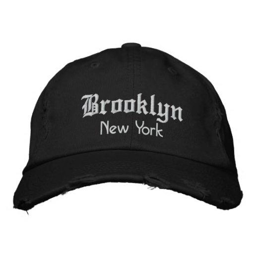 brooklyn bold embroidered baseball hat