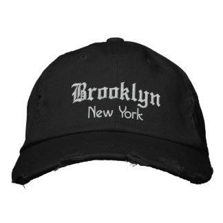 brooklyn bold embroidered baseball cap