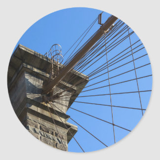 Brooklyn Bridge 01 Classic Round Sticker