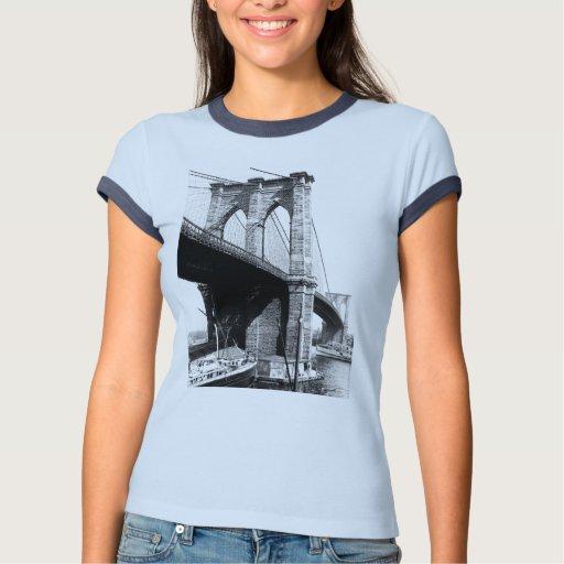 Brooklyn Bridge 1896 waterfront Tees